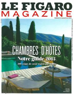 La Maison Jules dans le guide 2013 des Chambres d'Hôtes du Figaro Magazine
